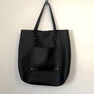 GAP Black Pebbled Tote Shopper Large Bag